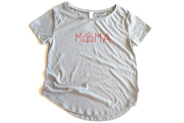 Home is Mama (light gray) - wide neck