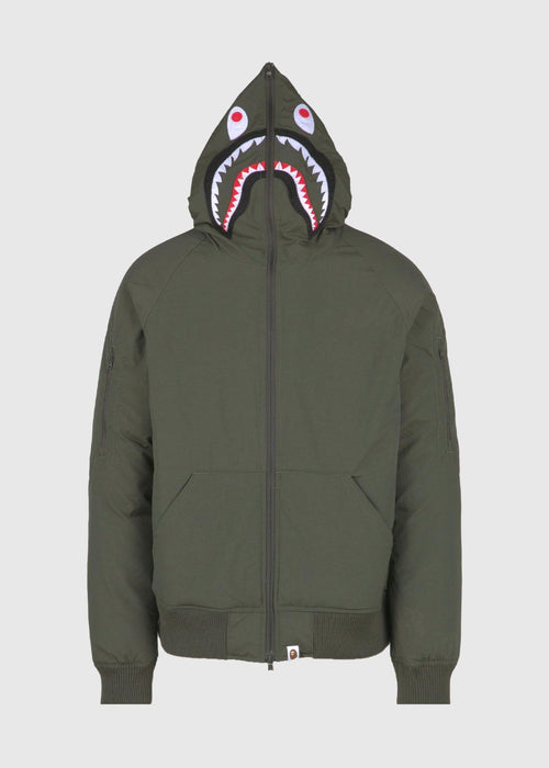 /products/bape-shark-hoodie-down-jacket-olive