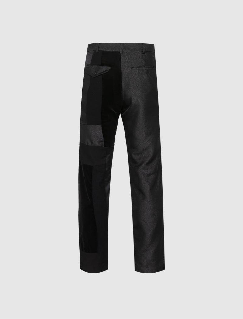 TWILL PATCHWORK PANTS