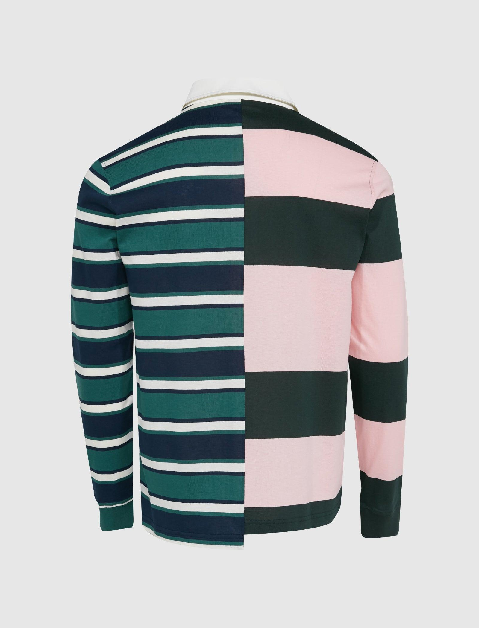 PATCHWORK LONG SLEEVE POLO