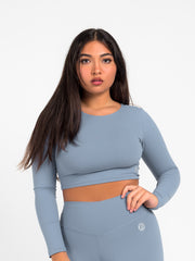 Simplicity Crop Top (Serenity Blue)