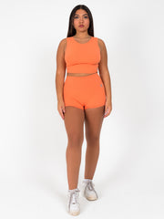 Back To Basics Crop Top (Tangerine)