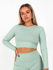 Simplicity Crop Top (Misty Jade)