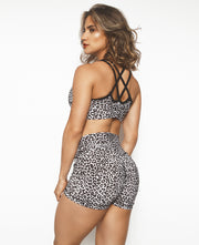 Black & White Cheetah Shorts