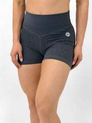 Matrix Texture Shorts in Gray