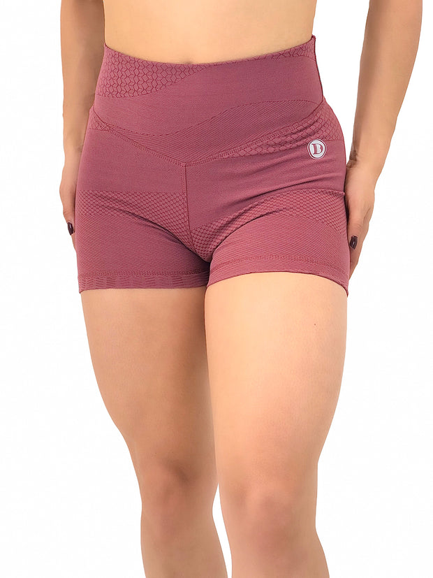 Matrix Texture Shorts in Dusty Rose