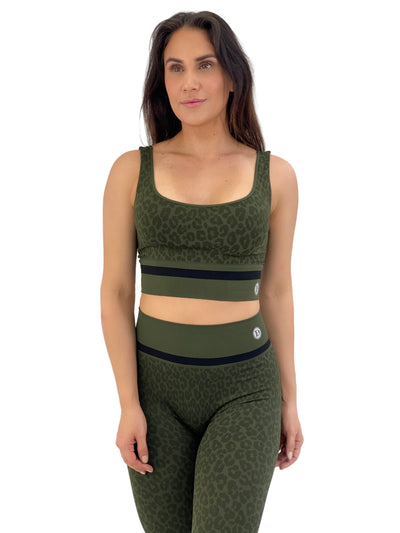 Seamless Cheetah Set (Army Green)