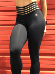 Striped Waistband Leggings (All Solids & Prints)