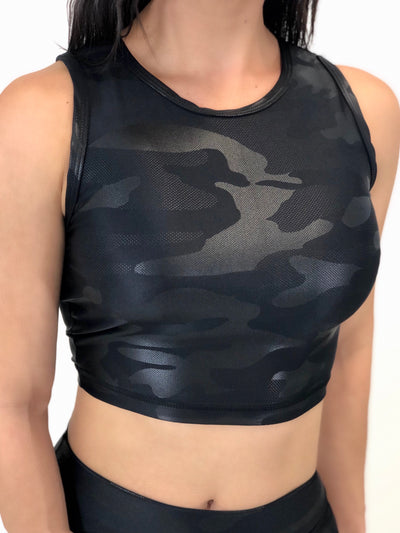 Back To Basics Crop Top (Midnight Camo)
