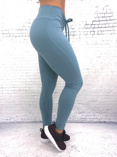 Adjustable Scrunch Waistband Leggings (All Solids & Prints)