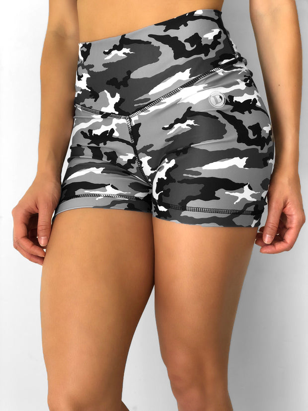 Black and White Camo Shorts
