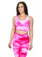 Tie Dye Seamless Set (Deep Pink)