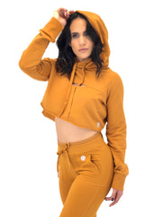Apricot Effortless Crop Hoodie
