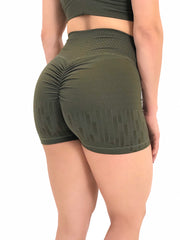 Matrix Texture Shorts in Army Green