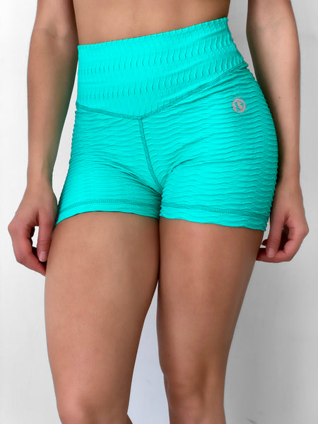 Energy Texture Shorts in Aqua