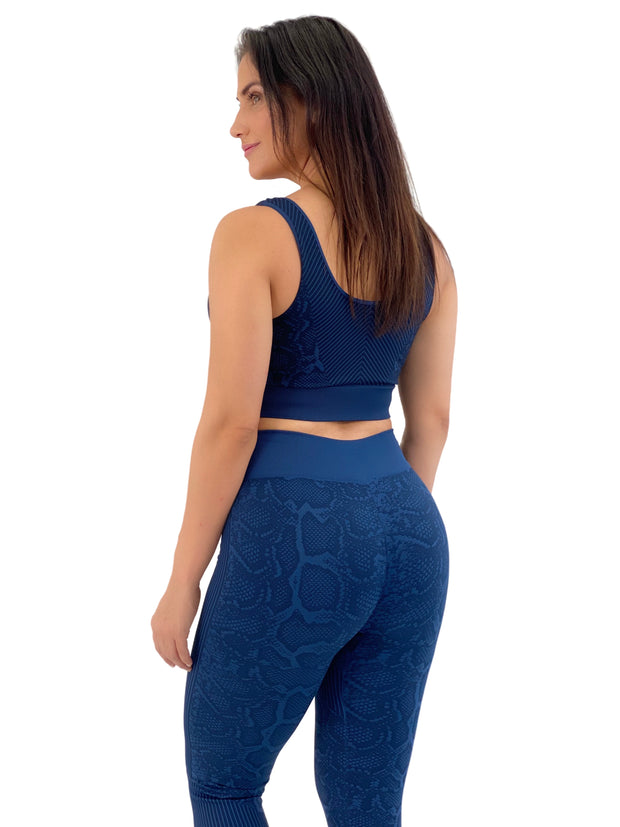 Seamless Snakeskin Set (Navy)