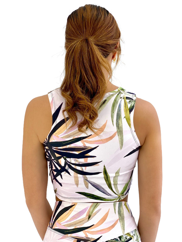 Back To Basics Crop Top (Sunset Palms)