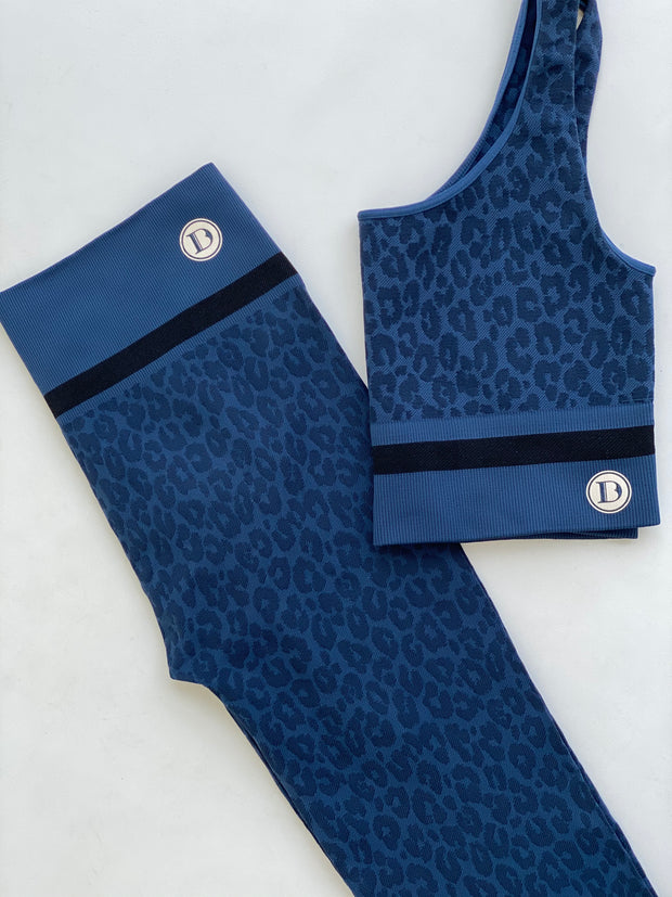 Seamless Cheetah Set (Navy Blue)