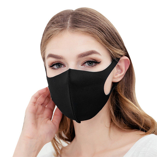 Black Face Mask | Washable & Reusable