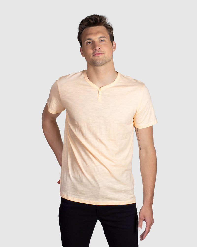 Slub Notch Henley, Clay