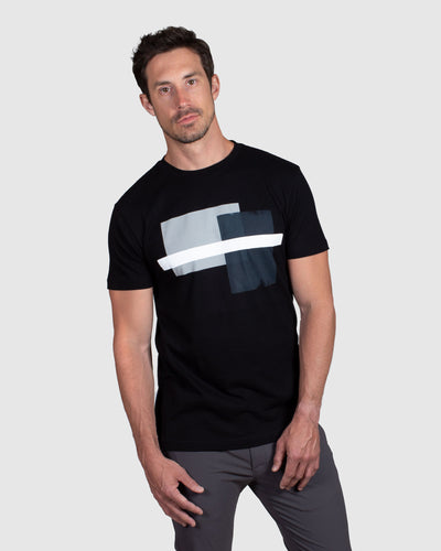 Abstract Block T-Shirt, Black