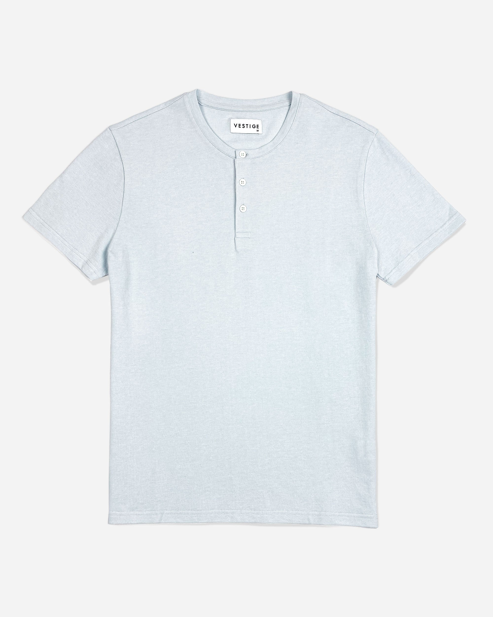 Pique Henley, Light Blue