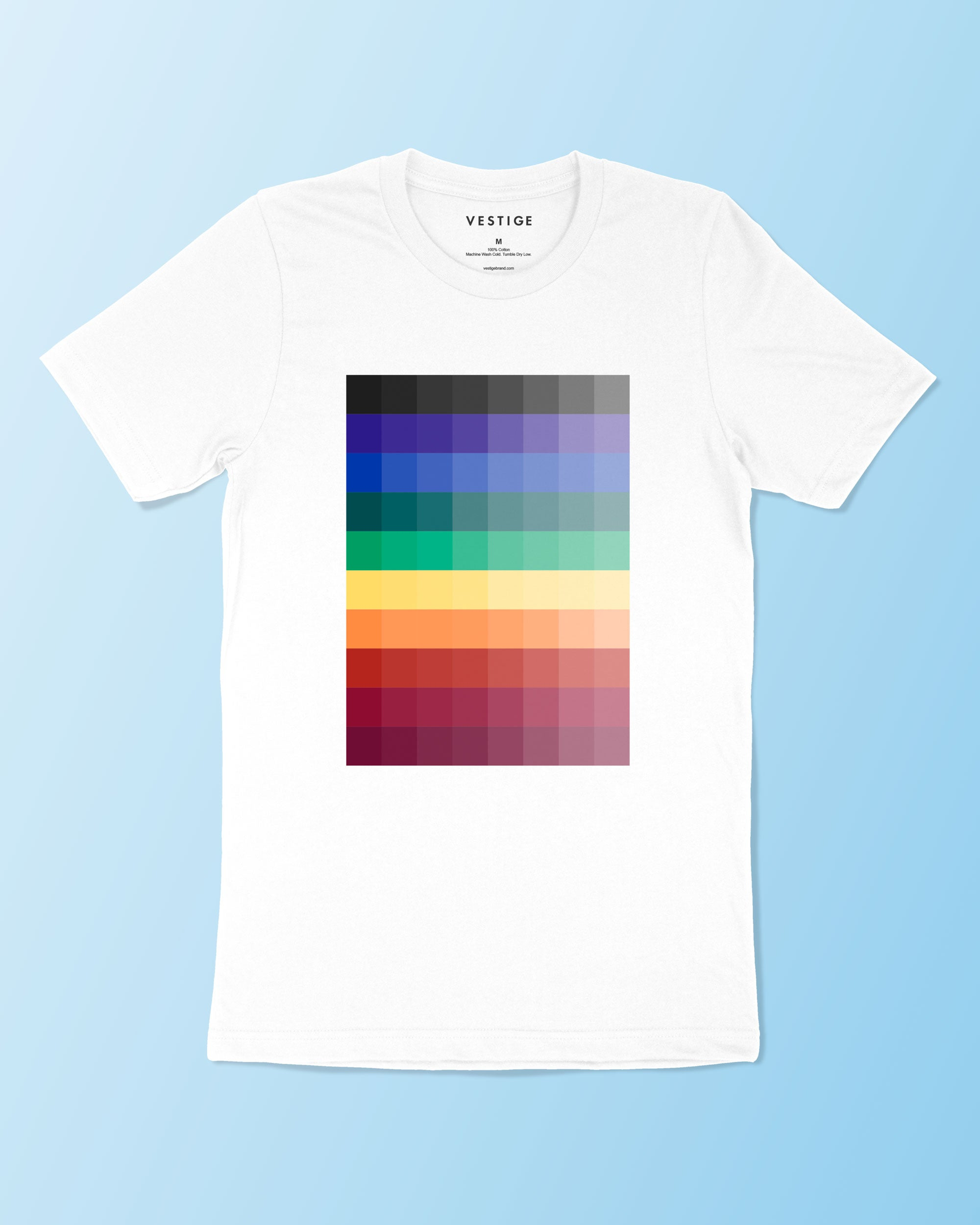Rainbow Pixels T-Shirt, White