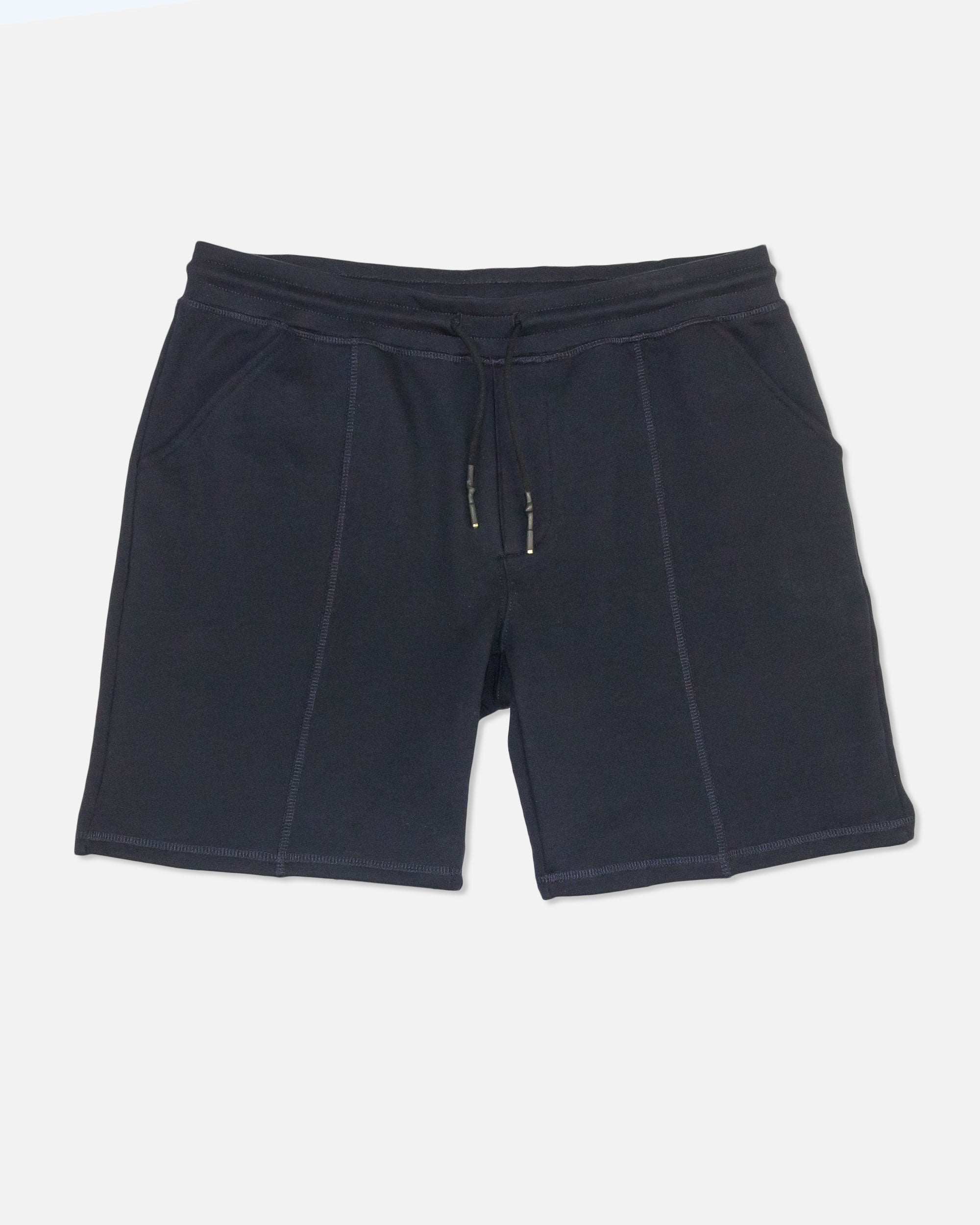 Banded French Terry Shorts, Navy