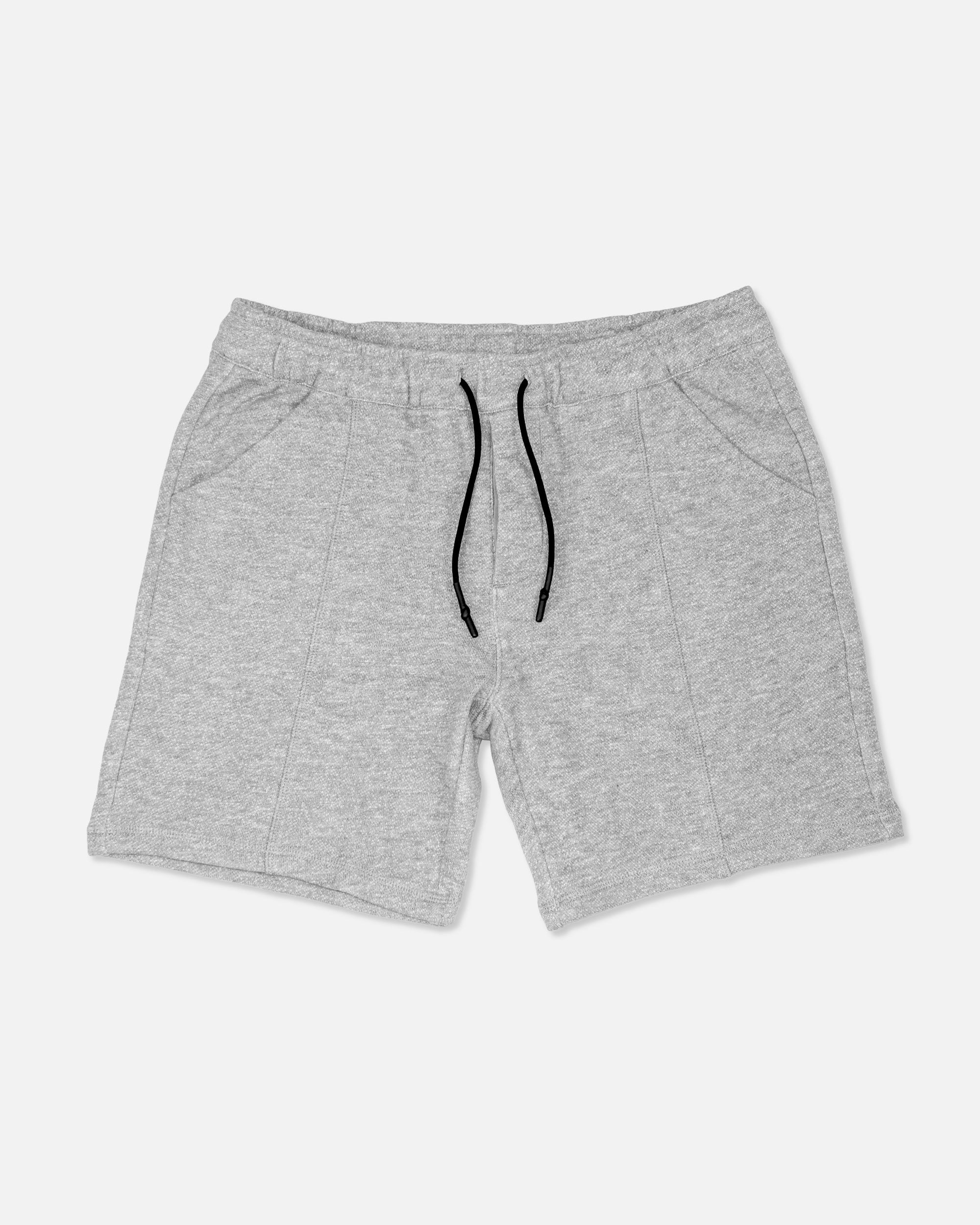 Melange French Terry Shorts, Light Grey