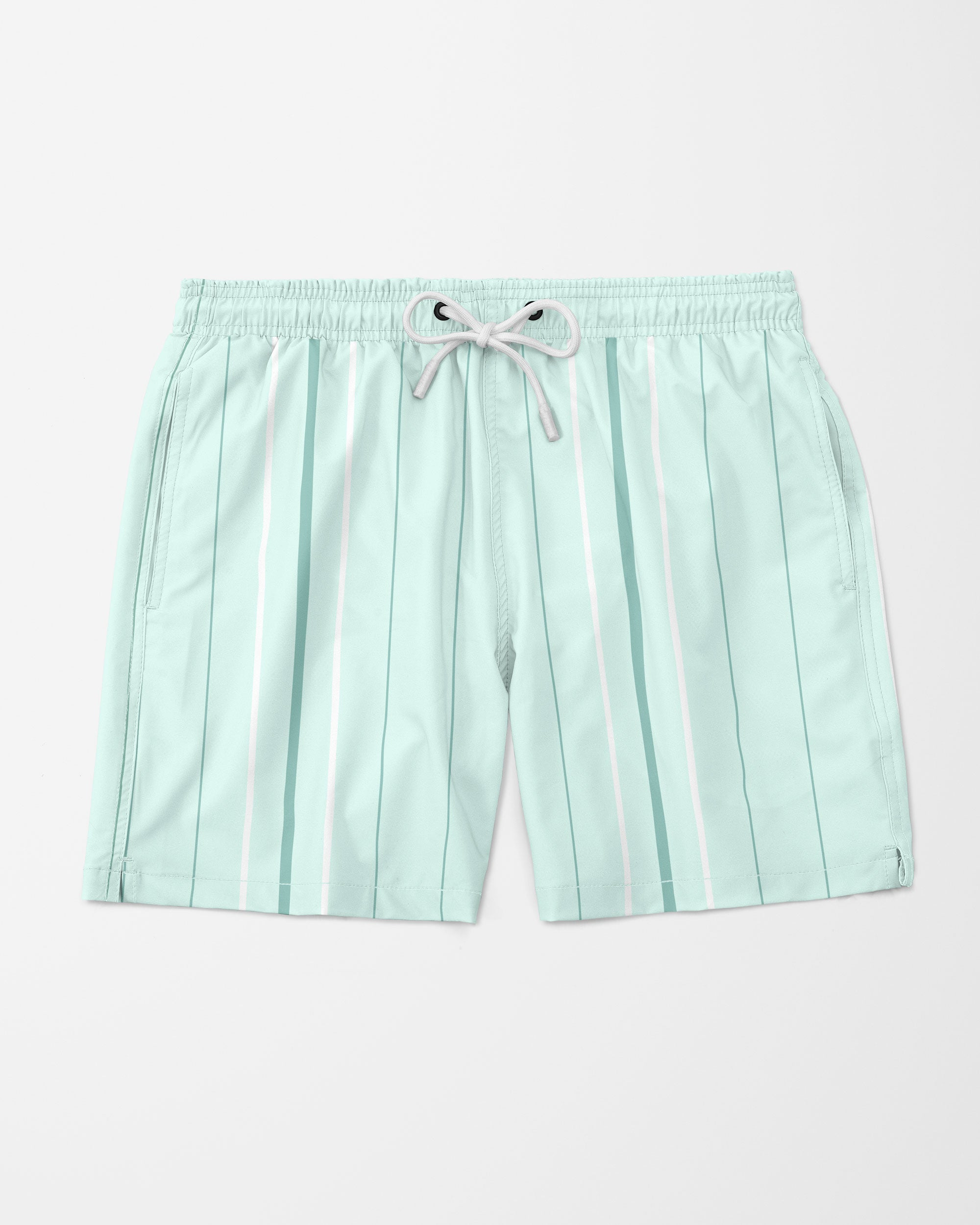 Vice Stripe Swim Trunks, Light Green