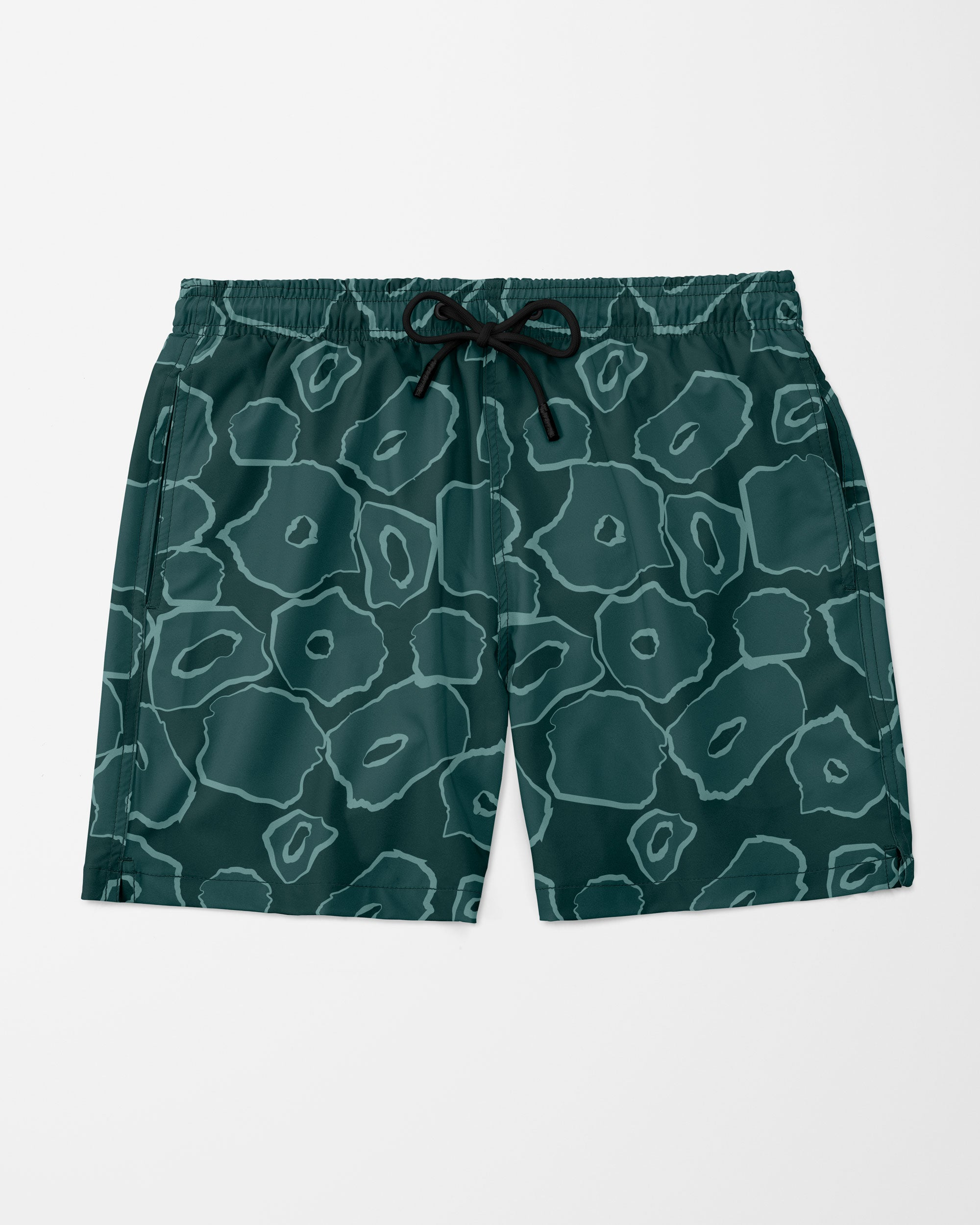 Big Cat Swim Shorts, Green