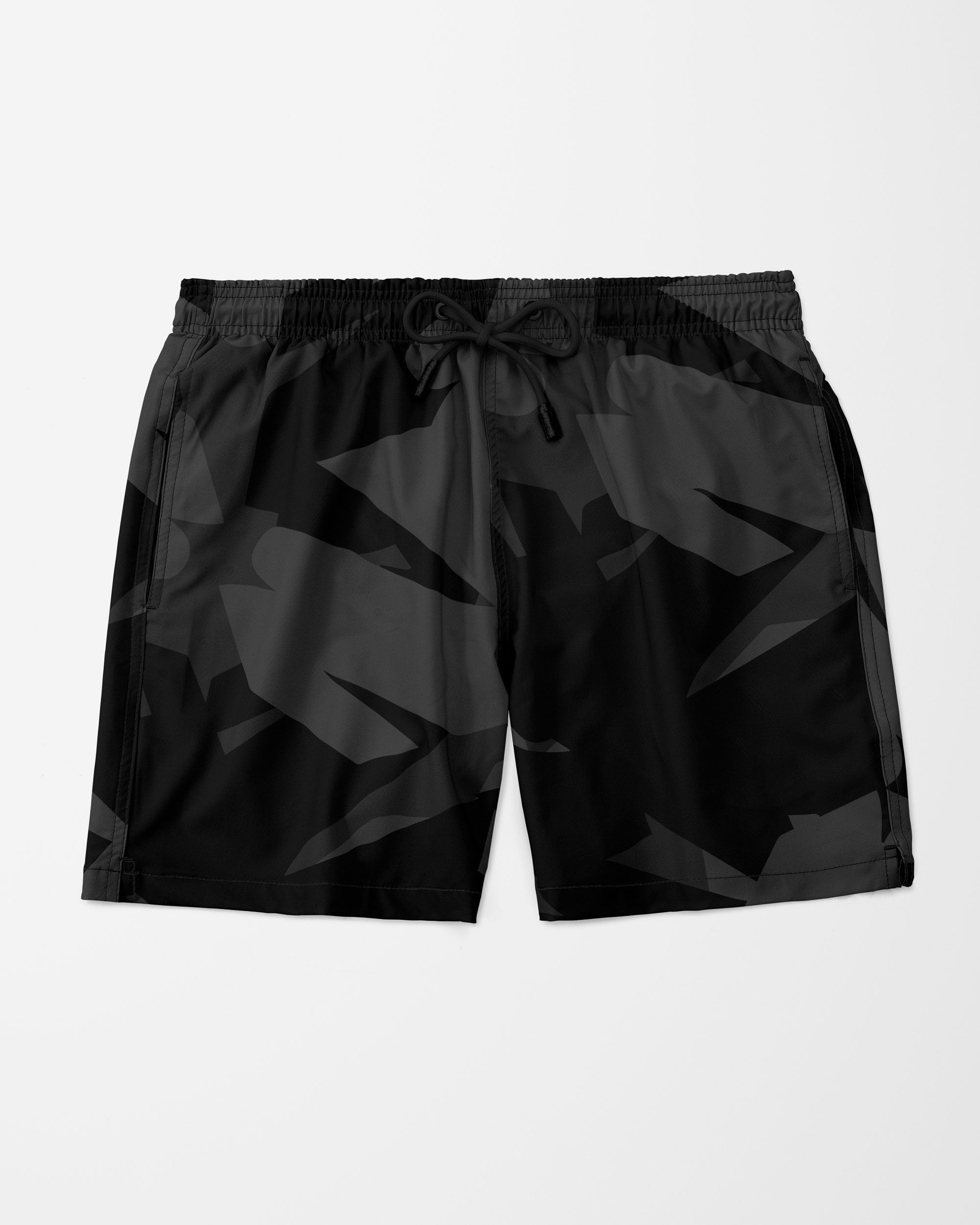 Visual Art Swim Shorts,  Black