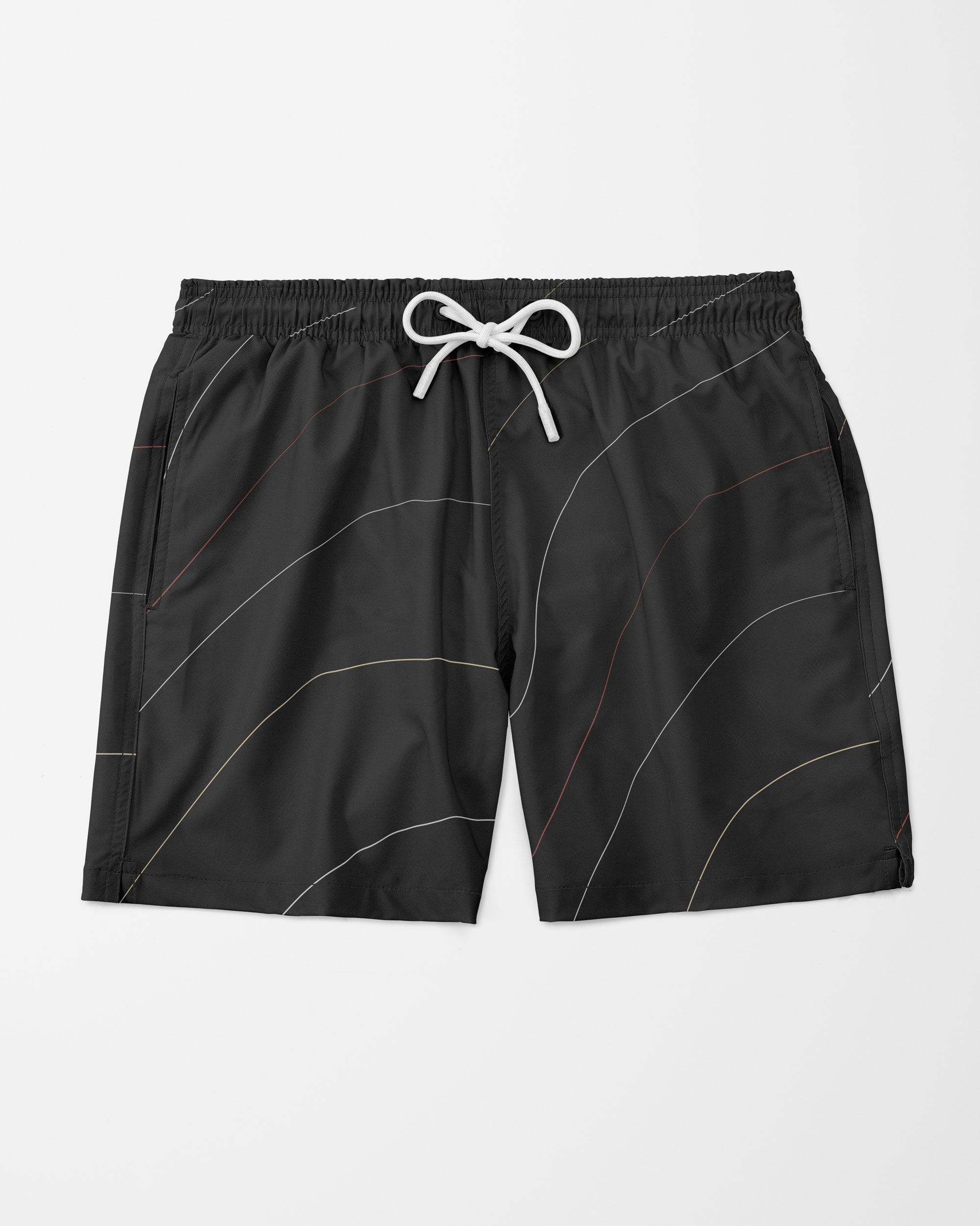 Contour Swim Shorts, Black