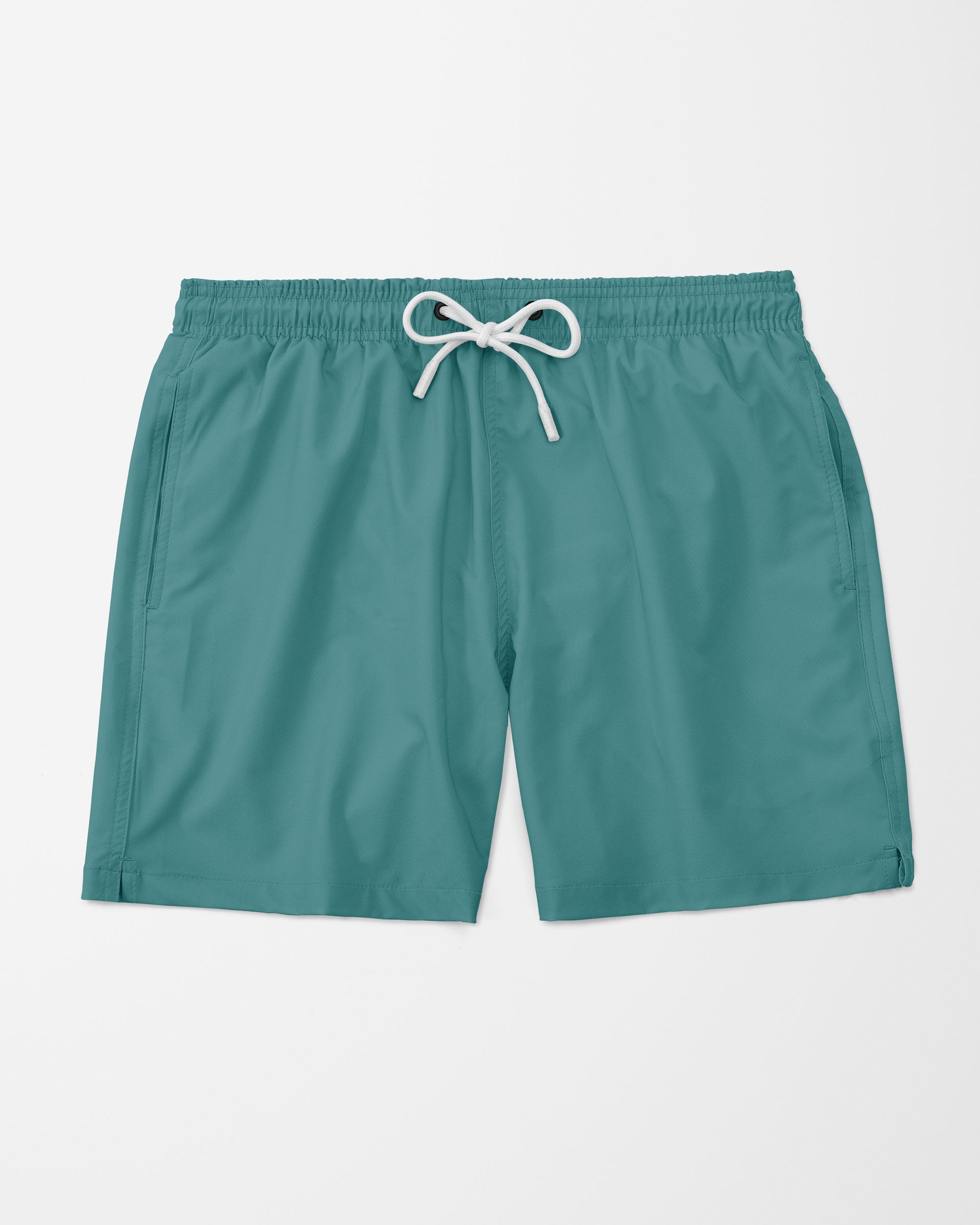 Solid Swim Shorts, Green