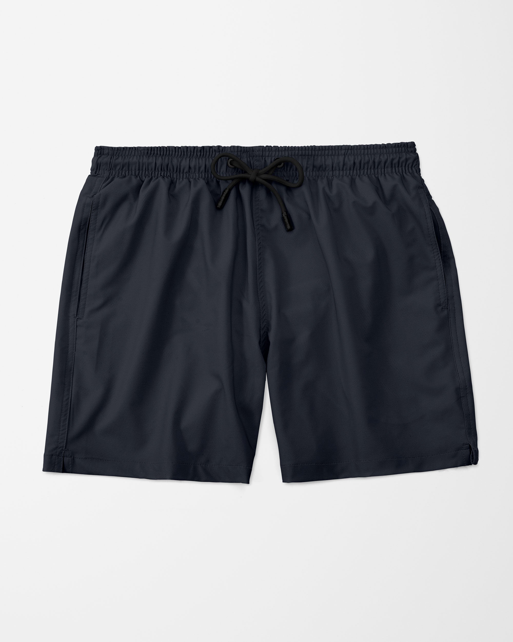 Solid Swim Shorts, Navy