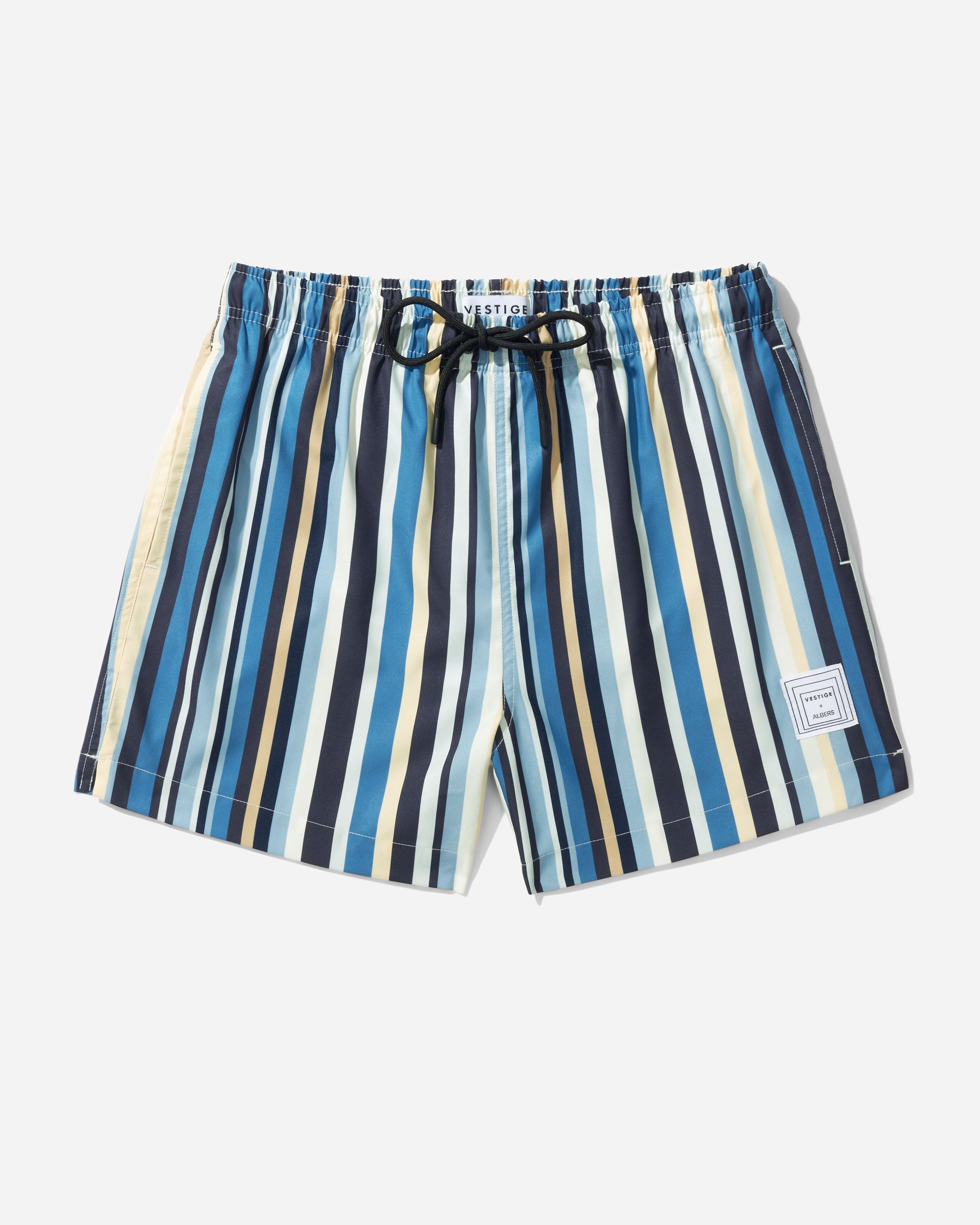 Chromatic Stripe Swim Short, Blue