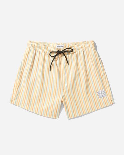 Albers Stripe Swim Short, Orange