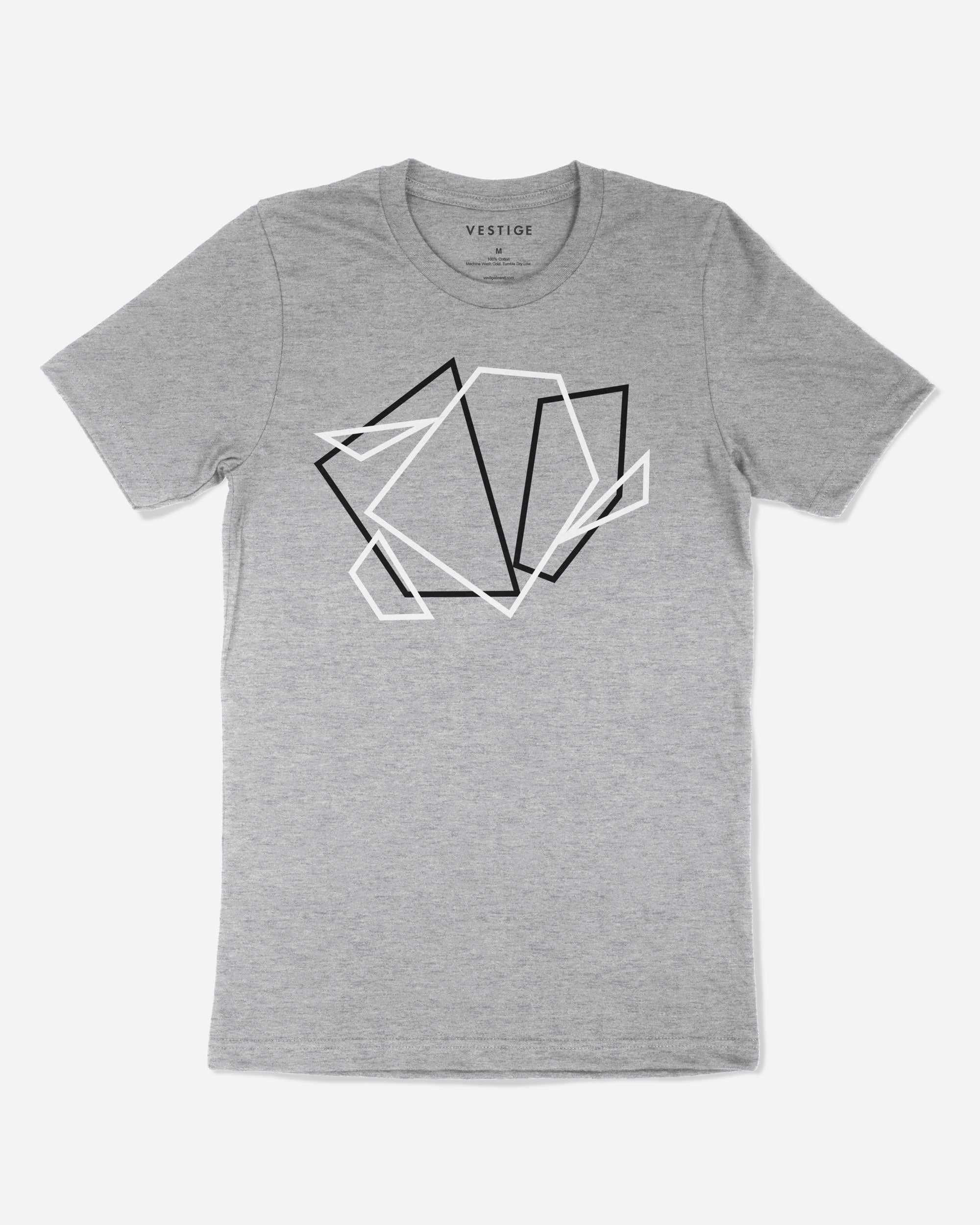 Shape Tangle Redux T-Shirt, Light Grey
