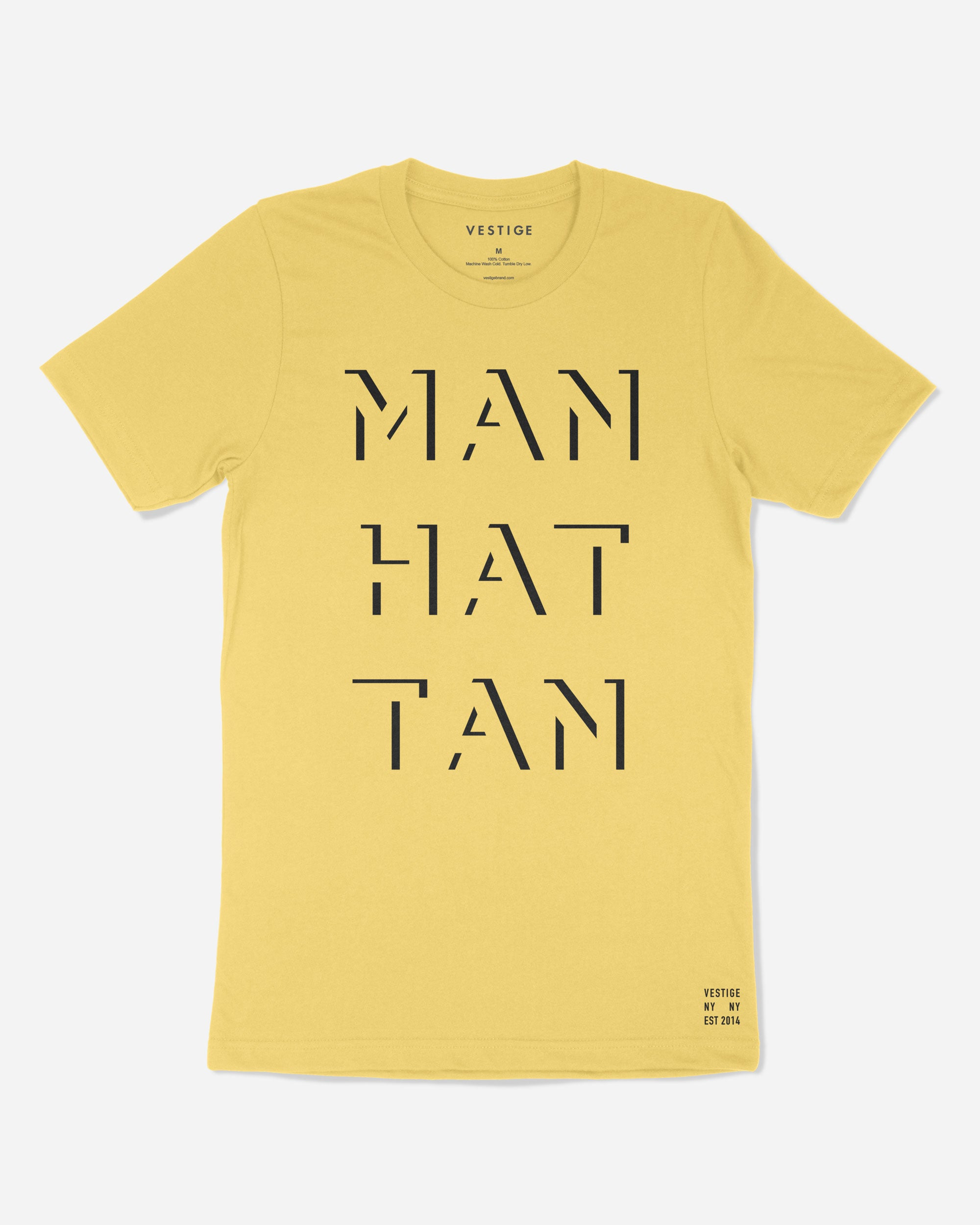 Manhattan Gotham T-Shirt, Yellow