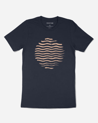 Beach Vibe Redux T-Shirt, Navy