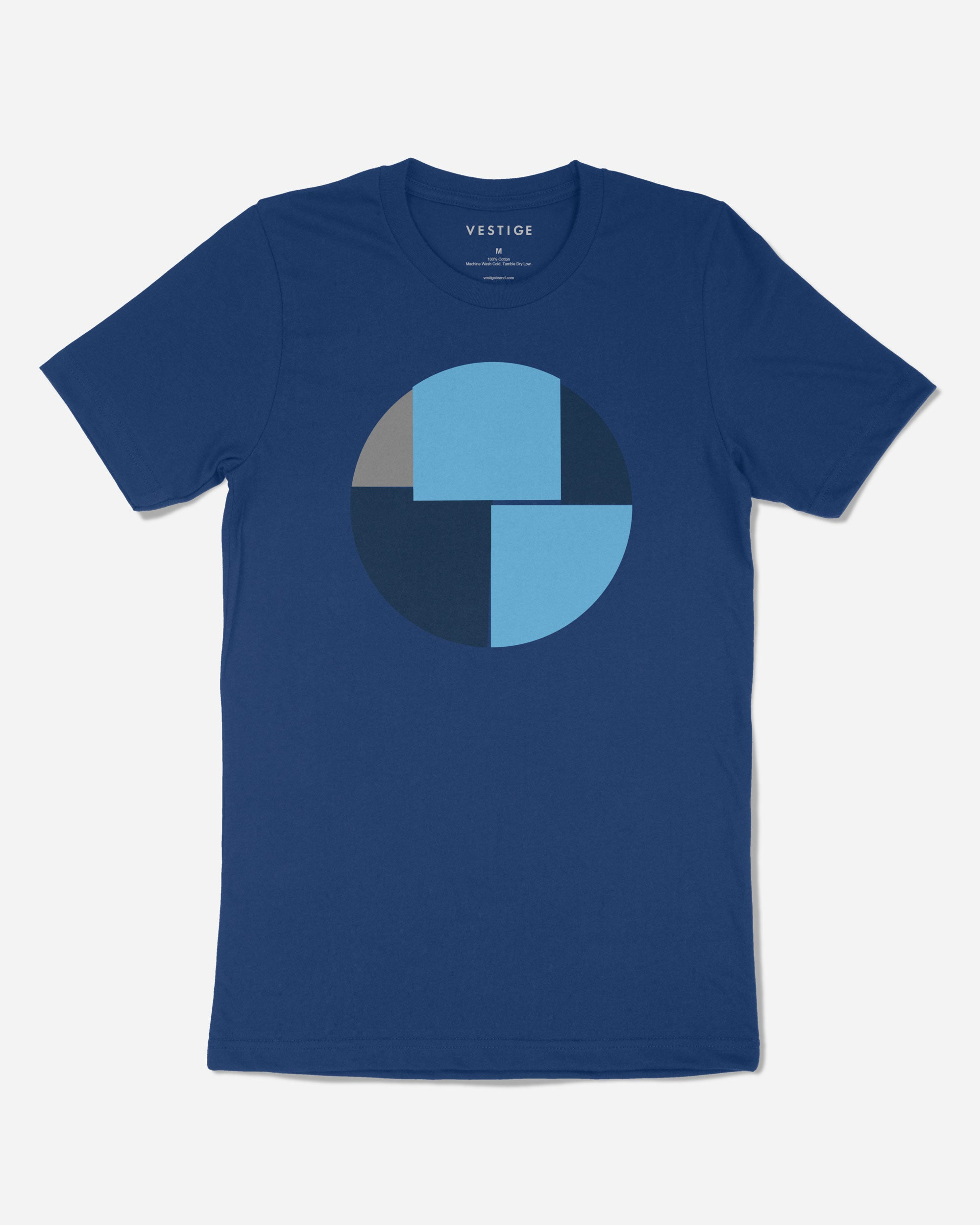 Geo Circle Redux T-Shirt, Blue