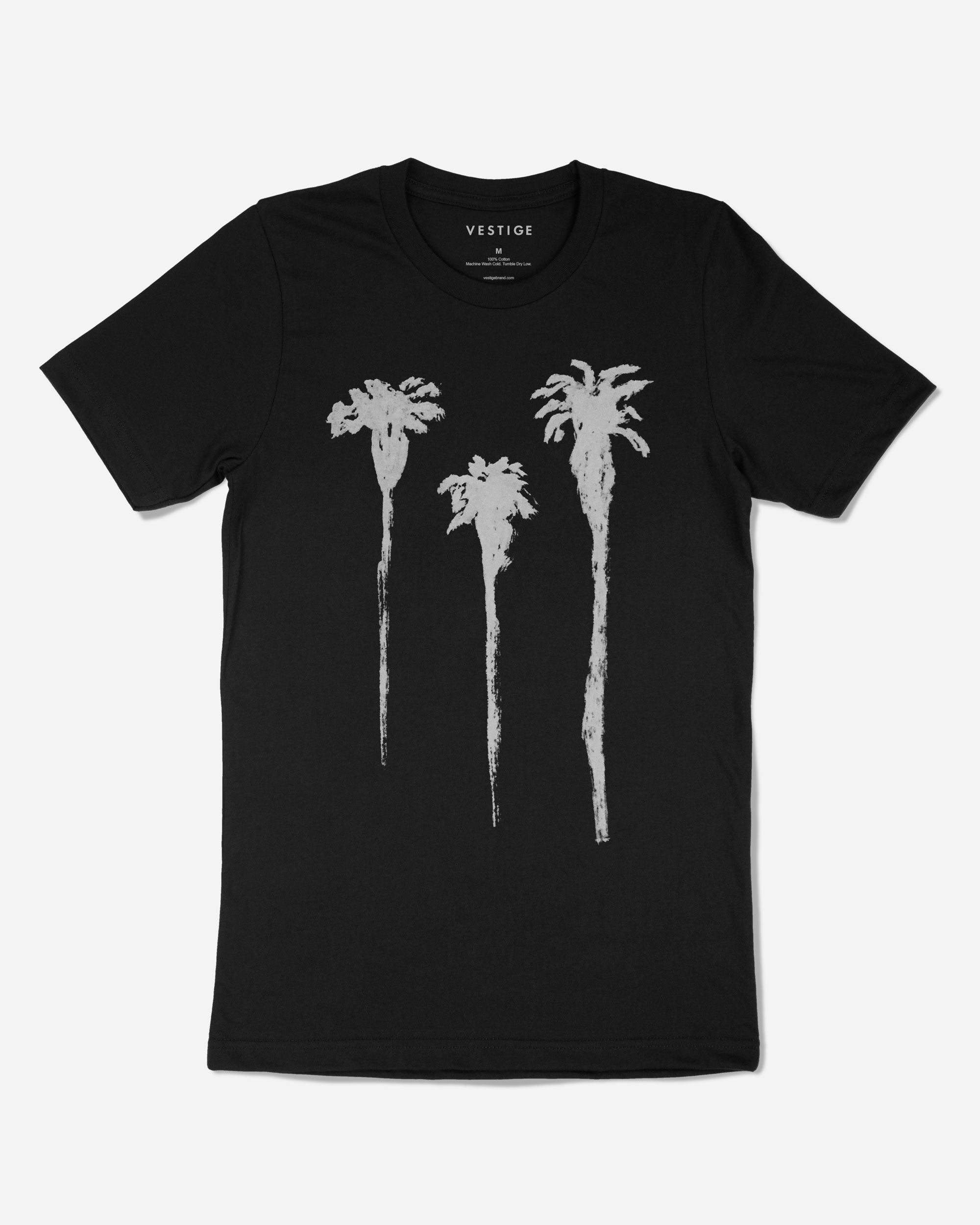 Tres Palm Redux T-Shirt, Black