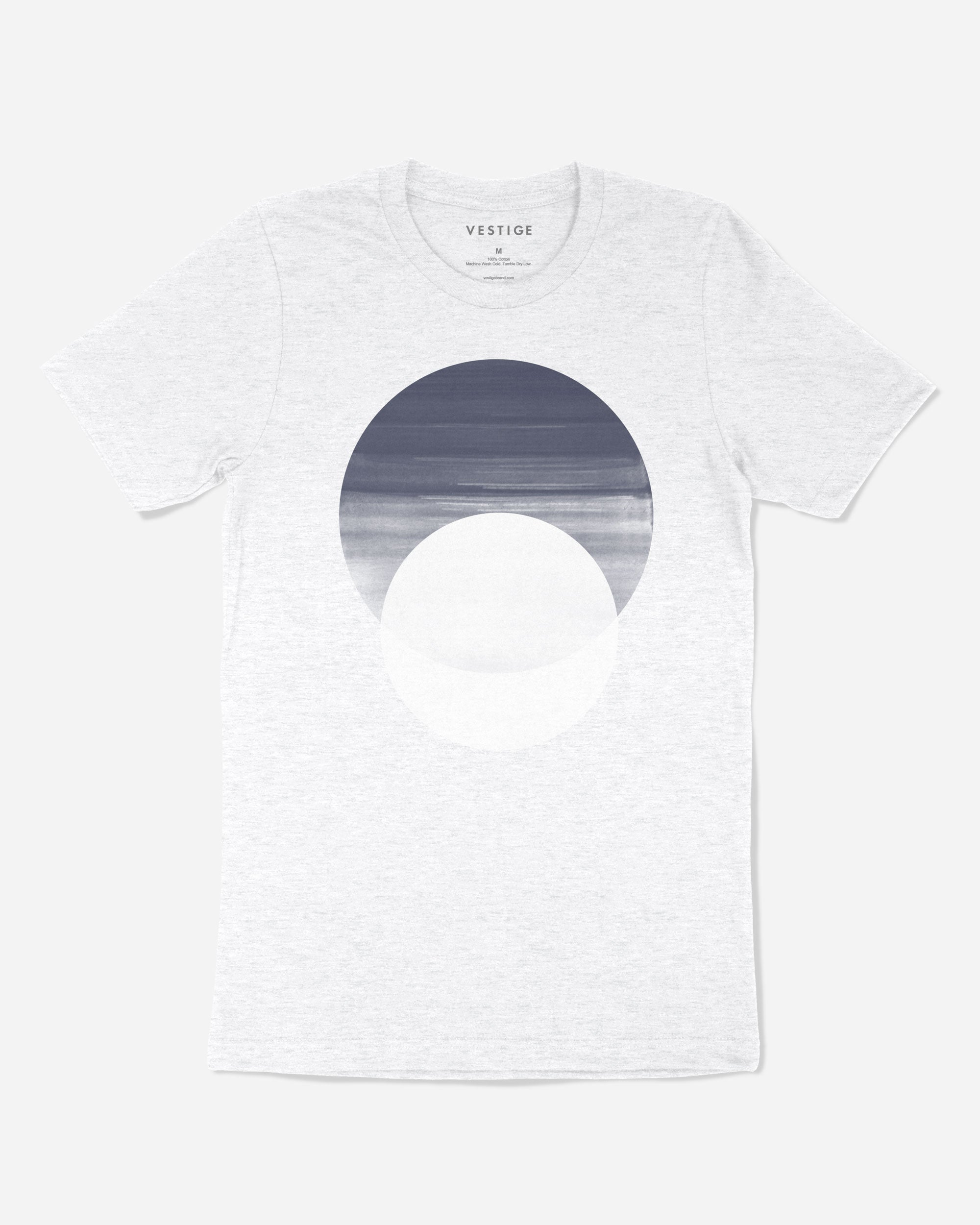 Midnight Circle T-Shirt, Light Grey
