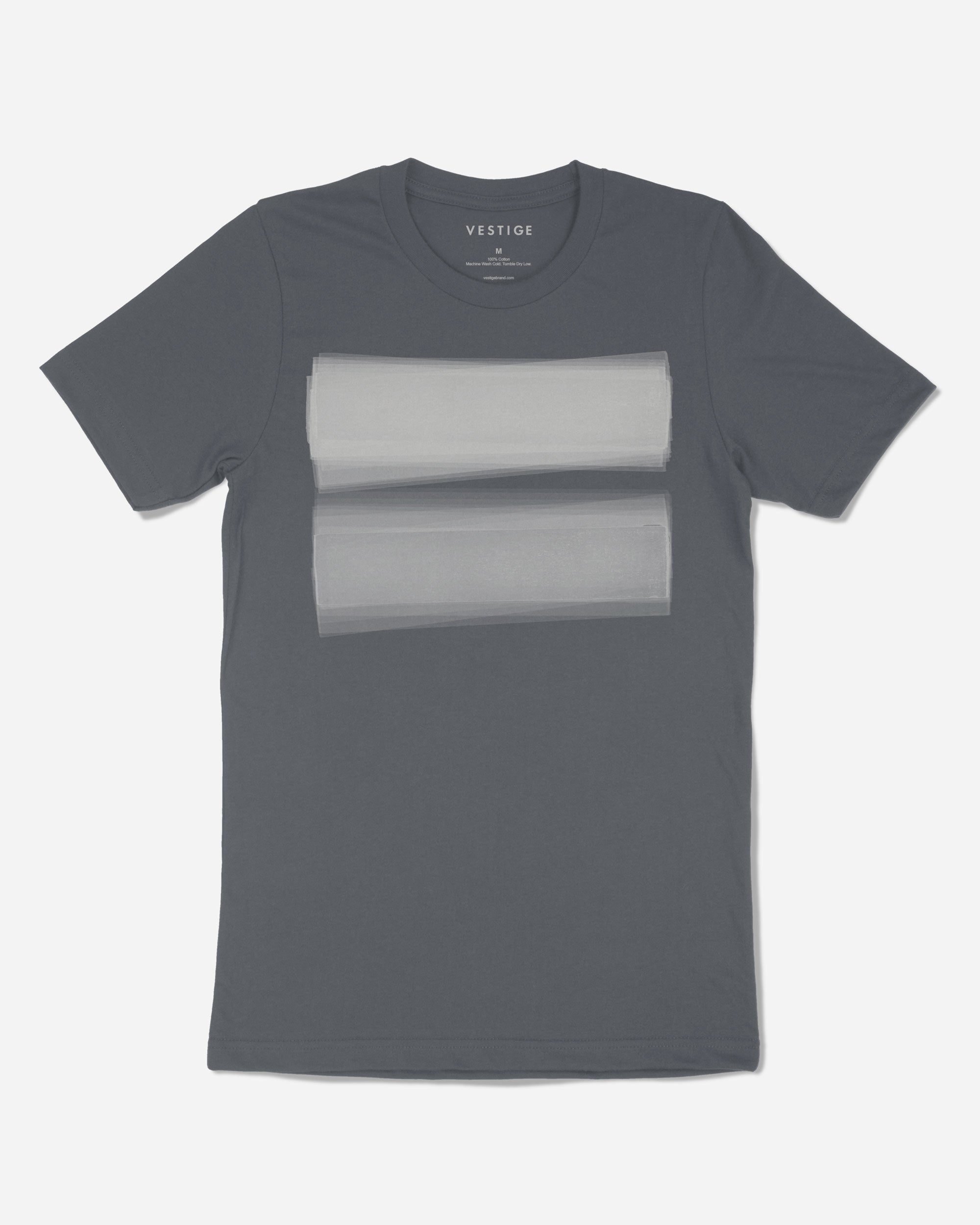 Transparent Light T-Shirt, Charcoal