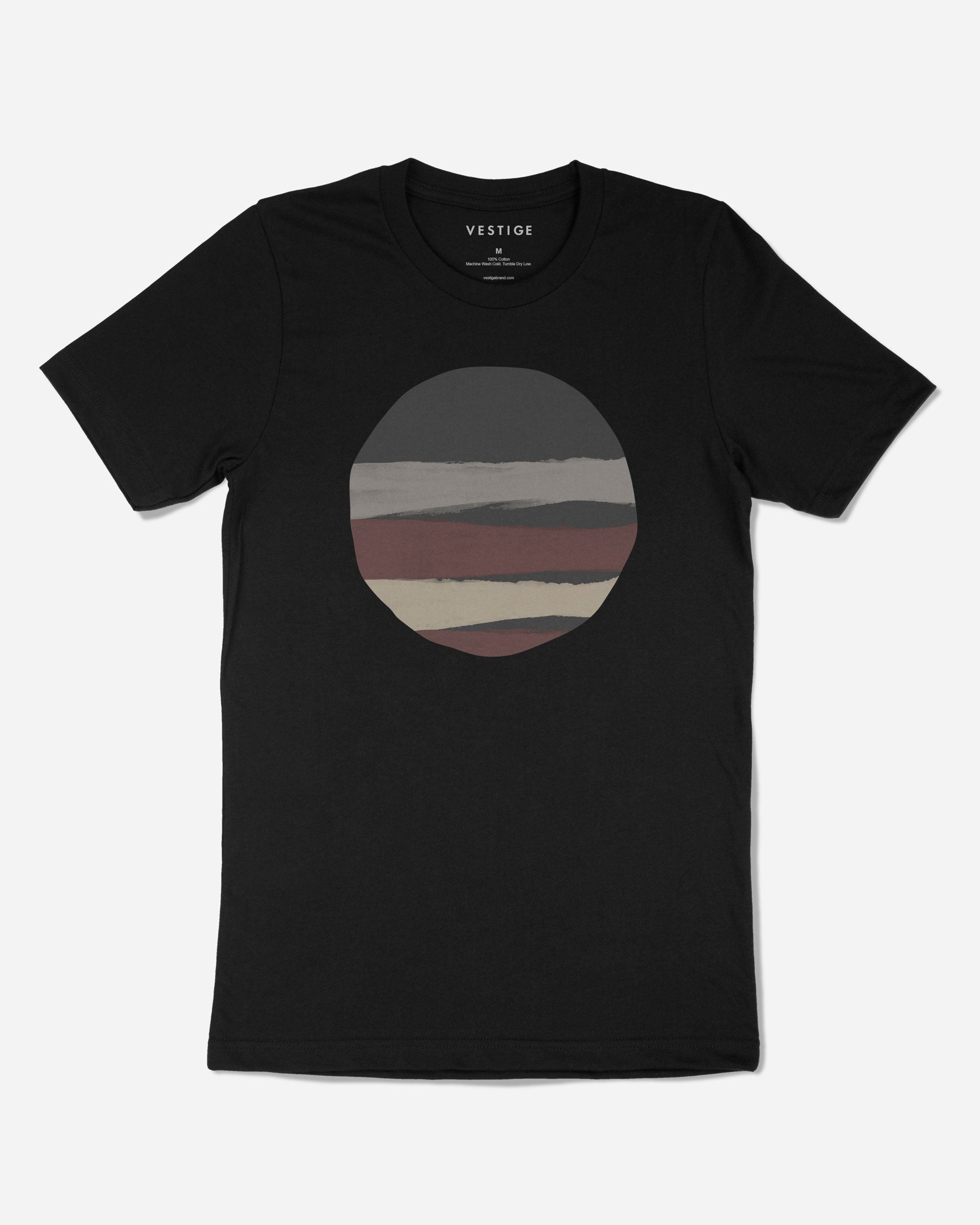 Torn Circle T-Shirt, Black