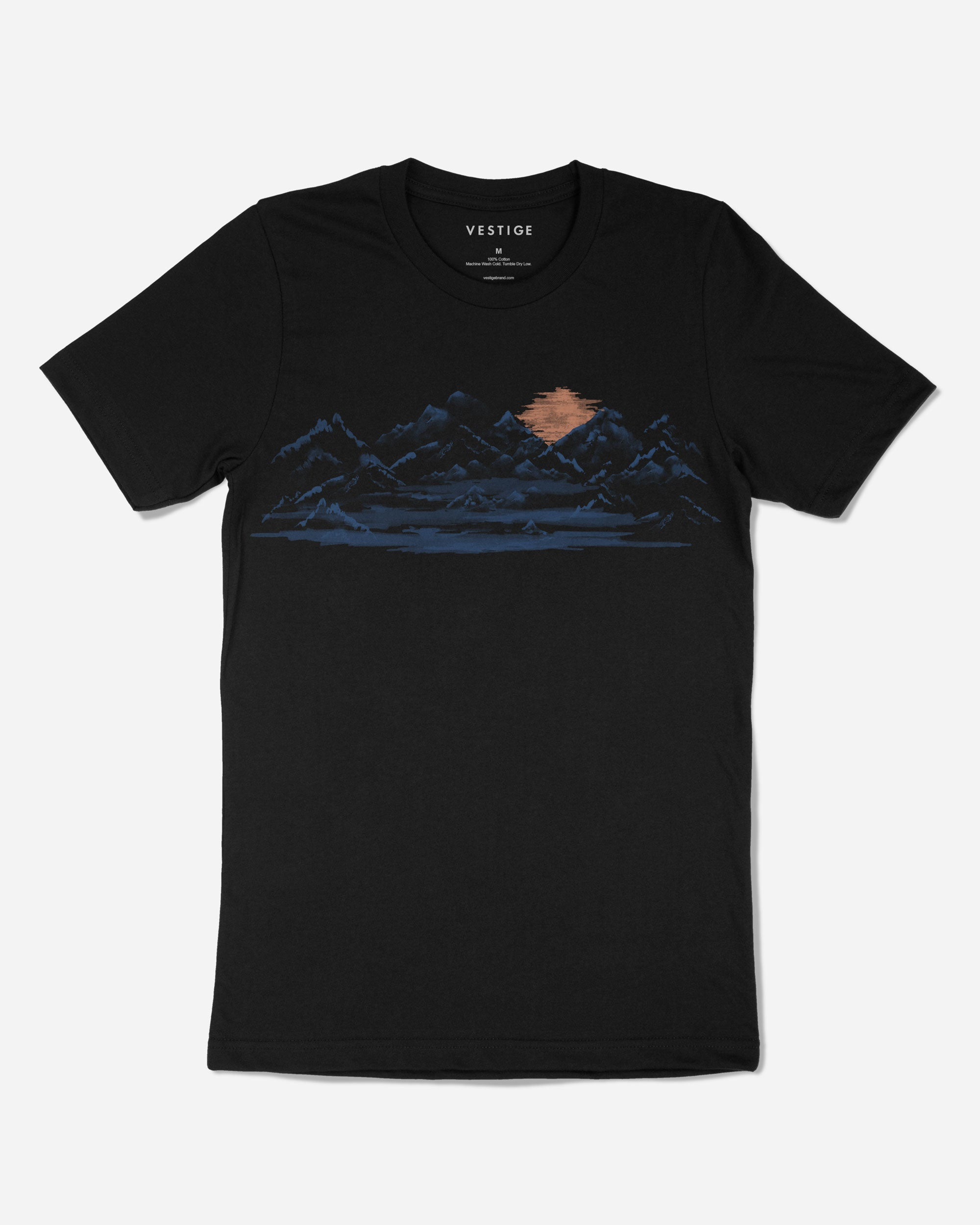 Sunset Mountain T-Shirt, Black