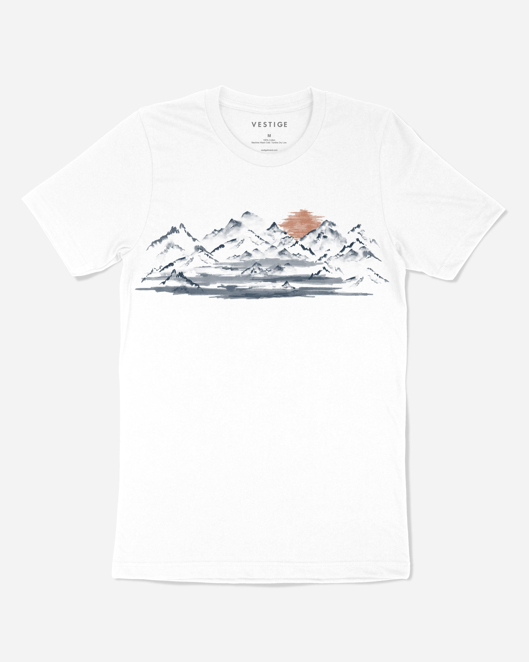 Sunset Mountain T-Shirt, White