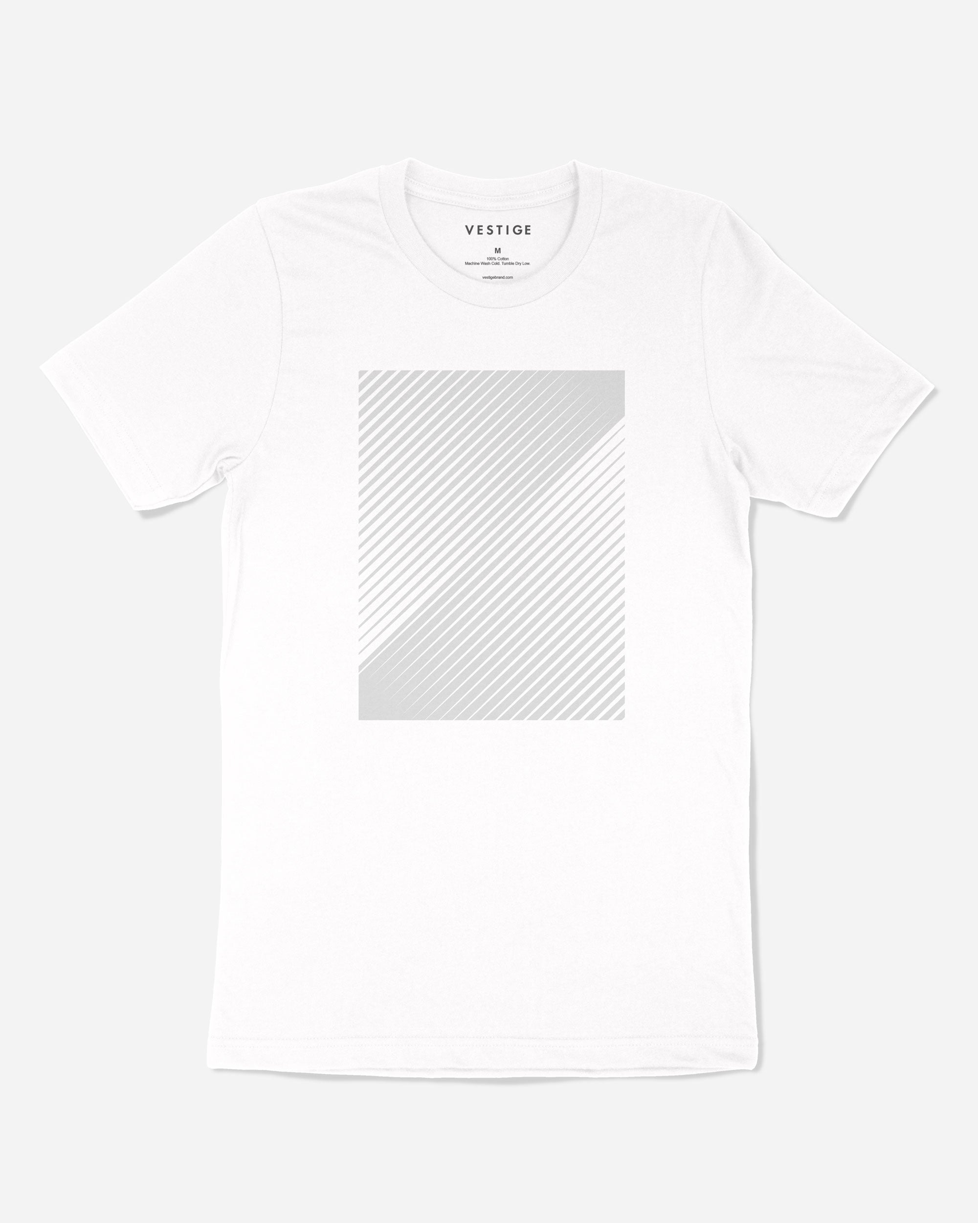 Linear T-Shirt, White