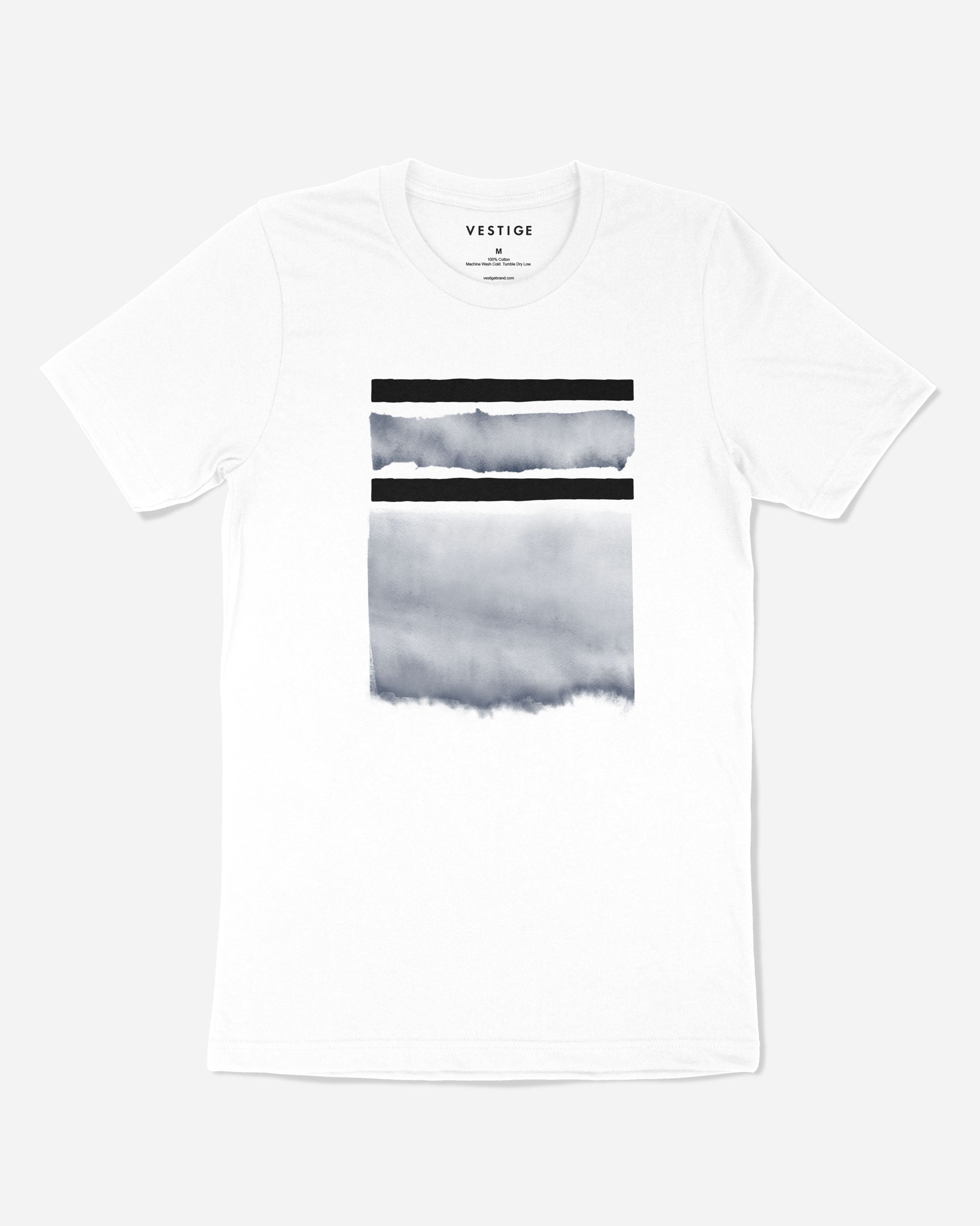 Geo Watercolor T-Shirt, White