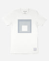 Josef Albers Tonal Homage to the Square T-Shirt, White